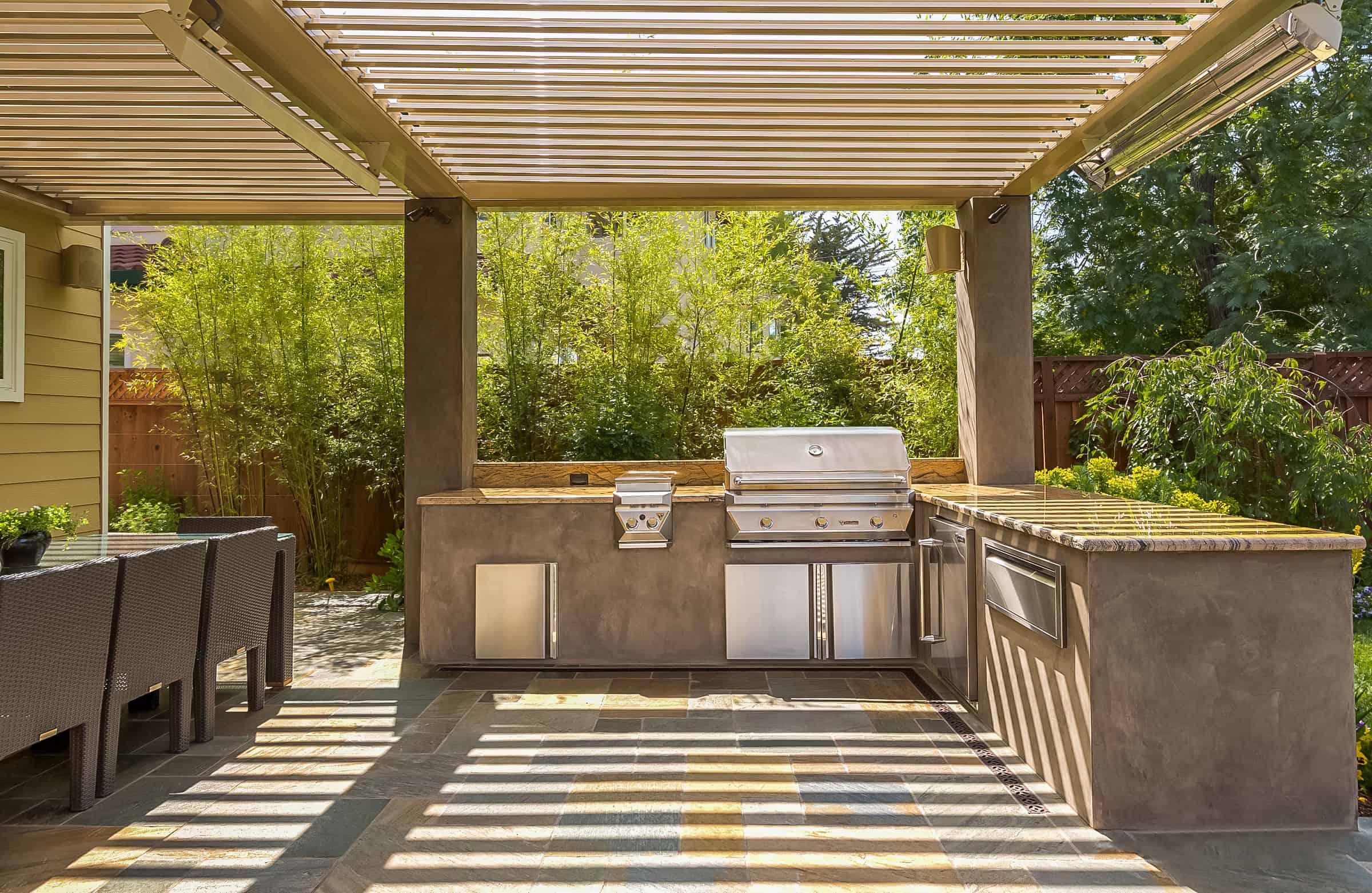 Pergolas by Julie - Pergola over a custom outdoor kitchen